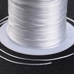 Jewelry Elastic Cord White  0,8 mm - 10 m Spool