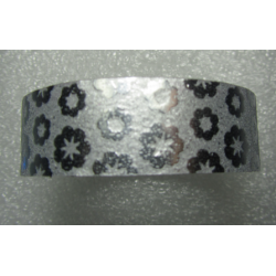 Stickers with Glitters 14,5 mm Silver Flowers - 1 Roll of about 3 m