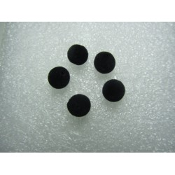Perle Tonde rivestite in Tessuto tipo Velluto  8  mm  Nero - 10 pz