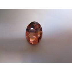 Cabochon Ovale Sfaccettato  in Vetro  18 x 25  mm Peach - 1 pz