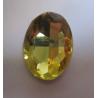Cabochon Ovale Sfaccettato  in Vetro  18 x 25  mm Light Yellow- 1 pz