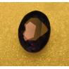 Cabochon Ovale Sfaccettato  in Vetro  18 x 25  mm Dark Amethyst Purple  - 1 pz