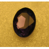 Oval Faceted Glass Cabochon 18 x 25  mm  Dark Amethyst Purple  - 1 pc