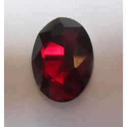Cabochon Ovale Sfaccettato  in Vetro  18 x 25  mm Dark Ruby  - 1 pz