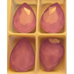 Teardrop Glass Cabochon 13 x 18 mm Crystal Light Violet - 1 pc