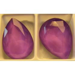 Cabochon Goccia  Vetro 13x18  mm  Crystal  Violet  - 1 pz
