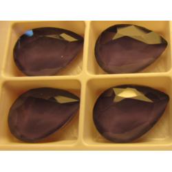Cabochon Goccia  Vetro 13x18  mm  Crystal Dark  Violet  - 1 pz