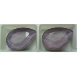 Cabochon Goccia  Vetro 13x18  mm  Crystal Lilac/Grey- 1 pz
