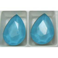 Cabochon Goccia  Vetro 13x18  mm  Crystal Azure  - 1 pz