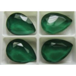Cabochon Goccia  Vetro 13x18  mm  Crystal Emerald - 1 pz