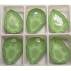 Cabochon Goccia Vetro 13x18 mm Crystal Light Green - 1 pz