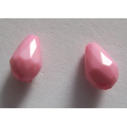 Goccia sfaccettata  in acrilico  12x8  mm Pink  -  2 pz