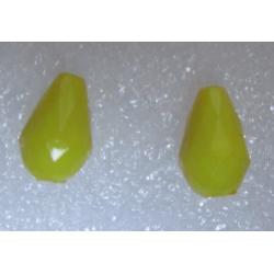 Goccia sfaccettata  in acrilico  12x8  mm Yellow  -  2 pz