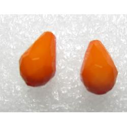 Goccia sfaccettata  in acrilico  12x8  mm Orange  -  2 pz