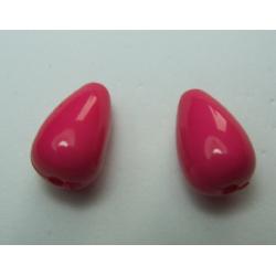Goccia Liscia  in acrilico  15x9  mm  Fuchsia -  2 pz