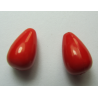 Acrylic  Drops  15x9  mm  Red   - 2 pcs