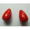 Goccia Liscia  in acrilico  15x9  mm  Red -  2 pz
