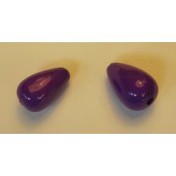 Goccia Liscia  in acrilico  15x9  mm  Purple  -  2 pz