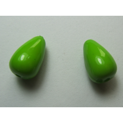 Acrylic  Drops  15x9  mm  Pea Green  - 2 pcs