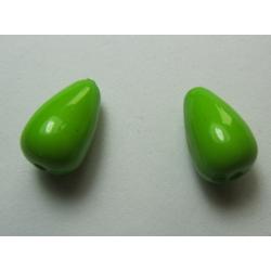 Goccia Liscia  in acrilico  15x9  mm  Pea Green  -  2 pz