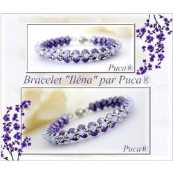 Ilena  Braceket  Kit  By Puca  Purple  version  (material kit)