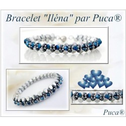 Ilena  Braceket  Kit  By Puca  Silver/Blue  version  (material kit)