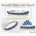 Kit Bracciale Ilena  By Puca  versione Argento/Blue  (kit materiali)