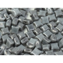 Wibeduo®  8 x 8  mm Opaque Grey Luster -  20 Pz