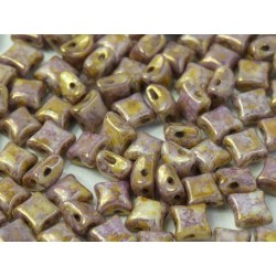 Wibeduo® 8 x 8 mm Opaque Lila Gold Luster- 20 Pcs