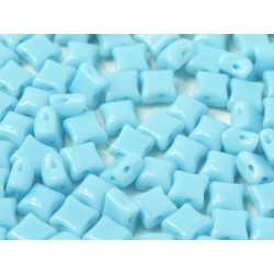 Wibeduo®  8 x 8  mm Opaque Turquoise Blue  -  20 Pz
