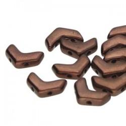 Chevron Duo  10 x 4  mm Dark Bronze -  15 Pz