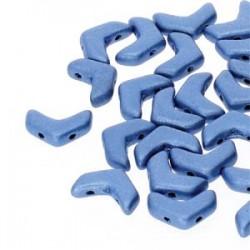 Chevron Duo  10 x 4  mm Metallic Mat  Blue  -  15 Pz