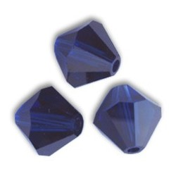 Swarovski Bicone 5328 6 mm Dark Indigo - 10 pcs