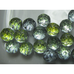 Baroque 2-Hole Cabochon 7 mm Backlit Uranium - 10 pcs