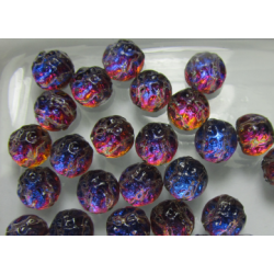 Baroque 2-Hole Cabochon 7 mm Backlit Vapor - 10 pcs