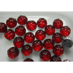 Baroque 2-Hole Cabochon 7 mm Backlit Rubysol - 10 pcs