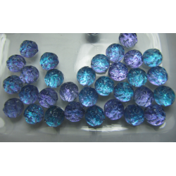 Baroque Cabochon  2 Fori   7 mm Backlit Violet Ice - 10 pz
