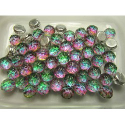 Baroque 2-Hole Cabochon 7 mm Backlit Spectrum - 10 pcs