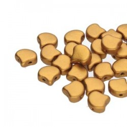 Ginkgo Leaf Bead 7,5 x 7,5 mm Matte Metallic Antique Gold- 5 g