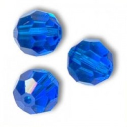 Swarovski Faceted Round 5000 8 mm Capri Blue - 3 pcs