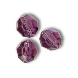 Swarovski faceted round 5000 8 mm Amethyst - 3 pcs