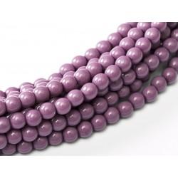 Perle Cerate in Vetro  10 mm Hollyhock  Purple  -  15  Pz
