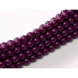 Perle Cerate in Vetro  10 mm Eggplant -  15  Pz