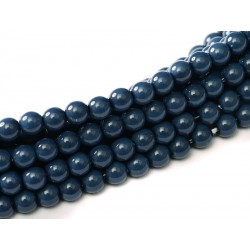 Glass Pearls  10 mm Royal Blue  - 15 pcs