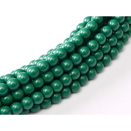 Glass Pearls  10 mm Green Jade - 15 pcs