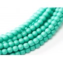 Glass Pearls  10 mm Turquoise  - 15 pcs