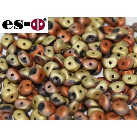 Es-O Beads 5 mm Jet California Gold Rush Matted  - 5 g