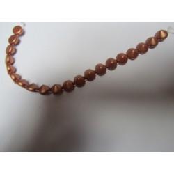 Tipp Beads  8 mm Metallic Copper   -  10 pz