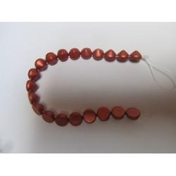 Tipp Beads  8 mm Metallic Bronze   -  10 pz
