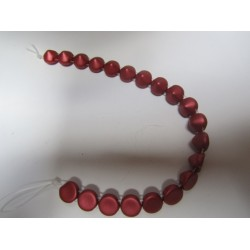 Tipp Beads  8 mm Metallic Red   -  10 pz